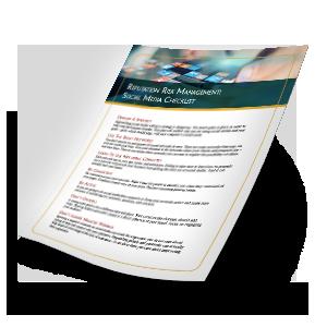 Reputation Risk Management Social Media Checklist